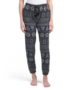 Fair Isle Lounge Joggers With Gift Tag