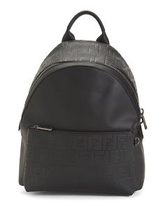 Made In Italy Logo Leather Backpack