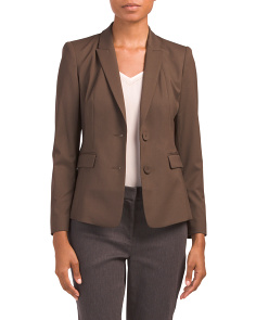 Petite Italian Stretch Wool Blake Jacket