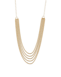 Made In Italy 14k Gold 5 Row Rope Necklace