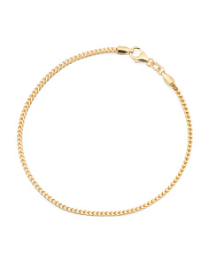 Made In Italy 14k Gold Square Spiga Bracelet