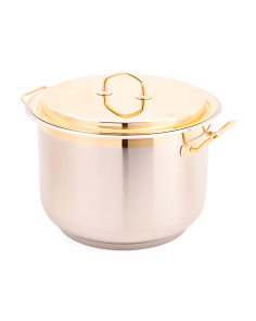 Made In Italy Stainless Steel 8.5qt 24kt Gold Plated Stockpot