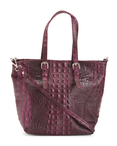 Made In Italy Crocco Leather Satchel