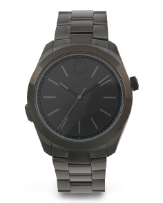 Men's Swiss Made Smartwatch With Black Ip Bracelet