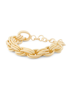 de33ac941 ... wholesale made in italy bronze ribbed oval triple link bracelet b2d2c  b2320 ...
