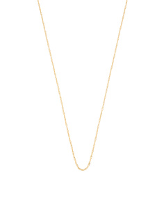 Made In Italy 14k Gold Singapore Chain Necklace
