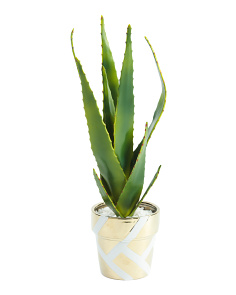 20in Faux Aloe In Pot
