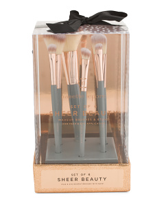 6pc Sheer Beauty Set Square Base