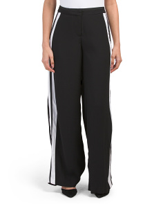 Wide Leg Side Stripe Pants