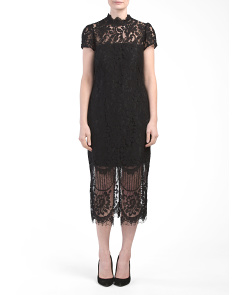 Debutante Lace Midi Dress