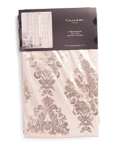 38x84 Set Of 2 Velvet Damask Curtains