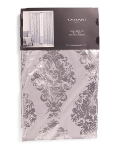 Set Of 2 Velvet Damask Curtains