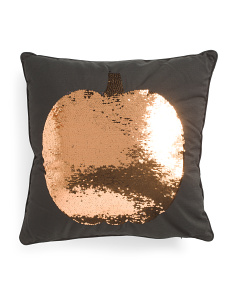 20x20 Reversible Sequin Pumpkin Pillow