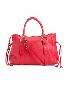 Made In Italy Pebbled Leather Satchel