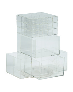 Handmade Acrylic Cosmetic Storage On Spinner