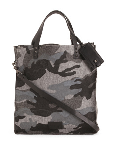 Made In Italy Camo Felt Tote