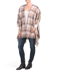 Plaid Fleece Ruana