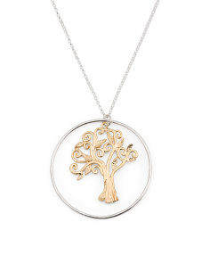 Made In Israel Sterling Silver Tree Of Life Necklace