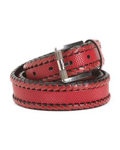 Men's Made In Italy Leather Luxury Belt