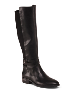 Stretch High Shaft Leather Boots