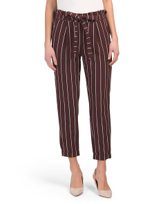 Juniors Multi Stripe Tie Waist Trousers