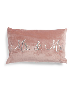 16x26 Mr & Mrs Pillow