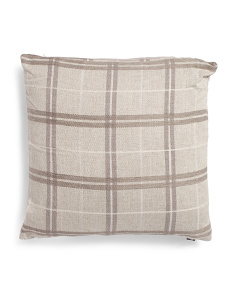 20x20 Talia Linen Plaid Pillow