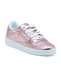 Classic Metallic Leather Fashion Sneakers