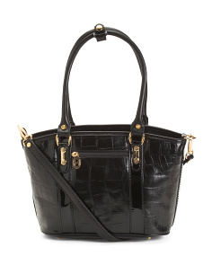 Made In Italy Leather Crocco Tote