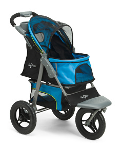 Jogger Pet Stroller With Accessory Tray