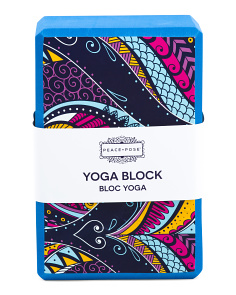 Peacock Yoga Block