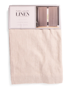 50x96 Set Of 2 Linen Lined Curtains