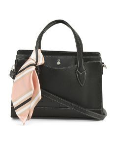 Grace Satchel With Striped Scarf