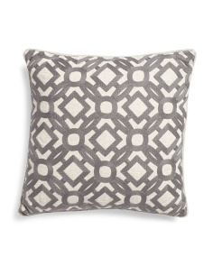 20x20 Chain Stitch Embroidered Pillow