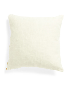 20x20 Linen Look Pillow With Gold Zipper