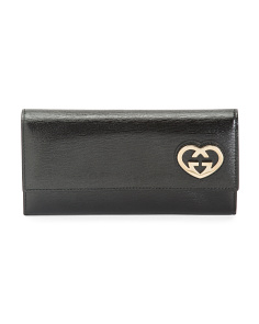 Made In Italy Leather Wallet With Heart