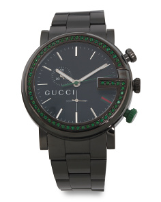 Swiss Made G Series Chrono Green Topaz Bezel Watch