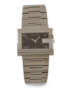 Women's Swiss Made G Rectangle Dial Bracelet Watch