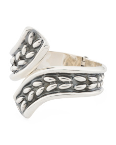 Made In Mexico Sterling Silver Hinged Ovals Bracelet