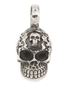 Made In Mexico Sterling Silver Skull Pendant