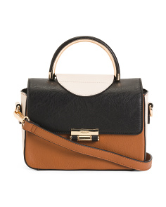 Color Blocked Satchel