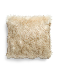 20x20 Faux Fur Rich Fox Pillow