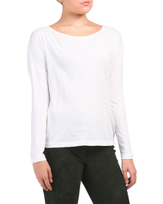 Pima Cotton Drop Shoulder Top