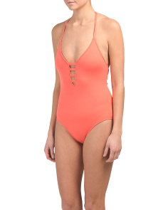 104a7bca36f6c Island Keyhole One-piece Swimsuit ...