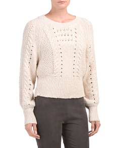 Edita Lace Up Back Sweater