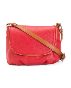 Made In Italy Pebbled Leather Crossbody