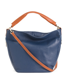 Made In Italy Grained Leather Hobo