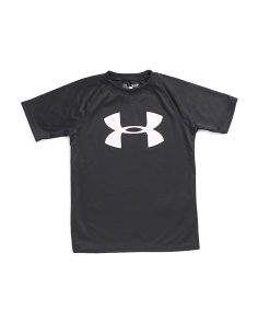 Boys Tech Short Sleeve Logo Tee