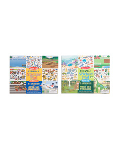 Vehicle & Habitat Reusable Sticker Pad Sets
