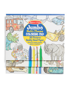 Set Of 3 Jumbo Coloring Pads